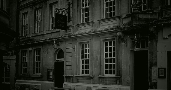 The pub is situated near the Theatre Royal, and was once the gaming house of Beau Nash.