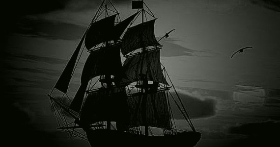 The most famous of ghost ships The Flying Dutchman, which hit rocks and sunk during a heavy storm in 1641.