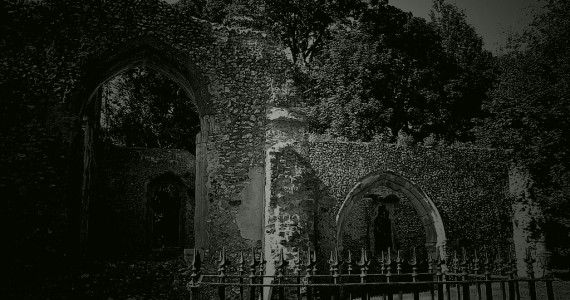 Minsden Chapel is haunted by a ghost of a phantom monk, who makes his appearance on Halloween