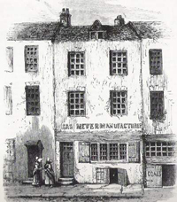 Sketch of an house on Cock Lane 1760