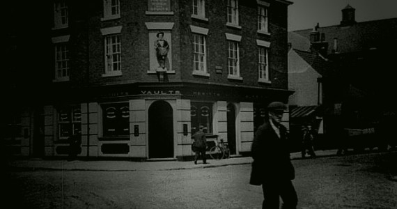 Typical Corner House Public House in Grimsby 1940&#039;s