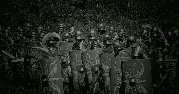 Roman legionary troops